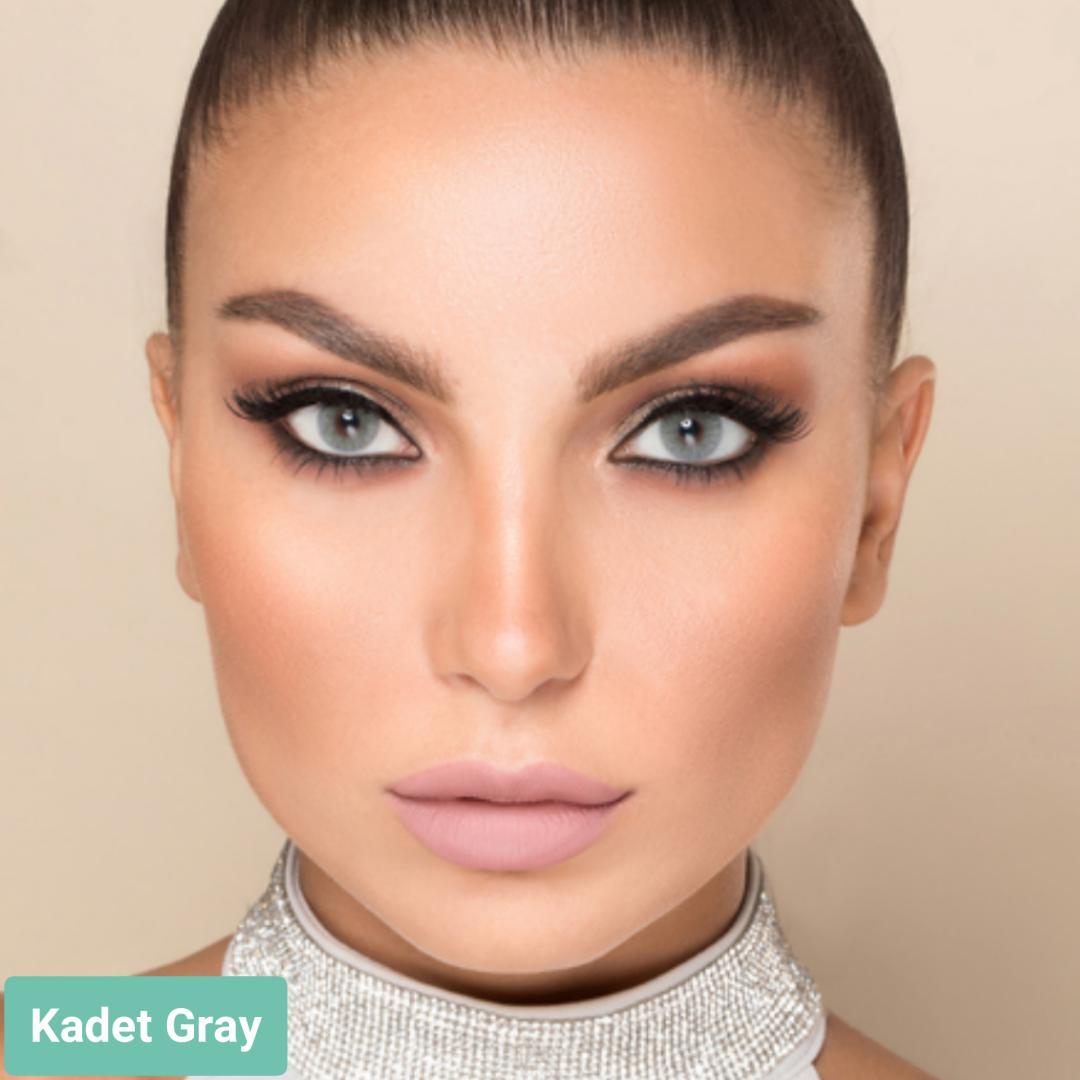 فروش لنز Kadet Gray (سبز آبی بدون دور)  برند لورنس  بهمراه قیمت امروز لنز رنگی  و قیمت امروز لنز طبی