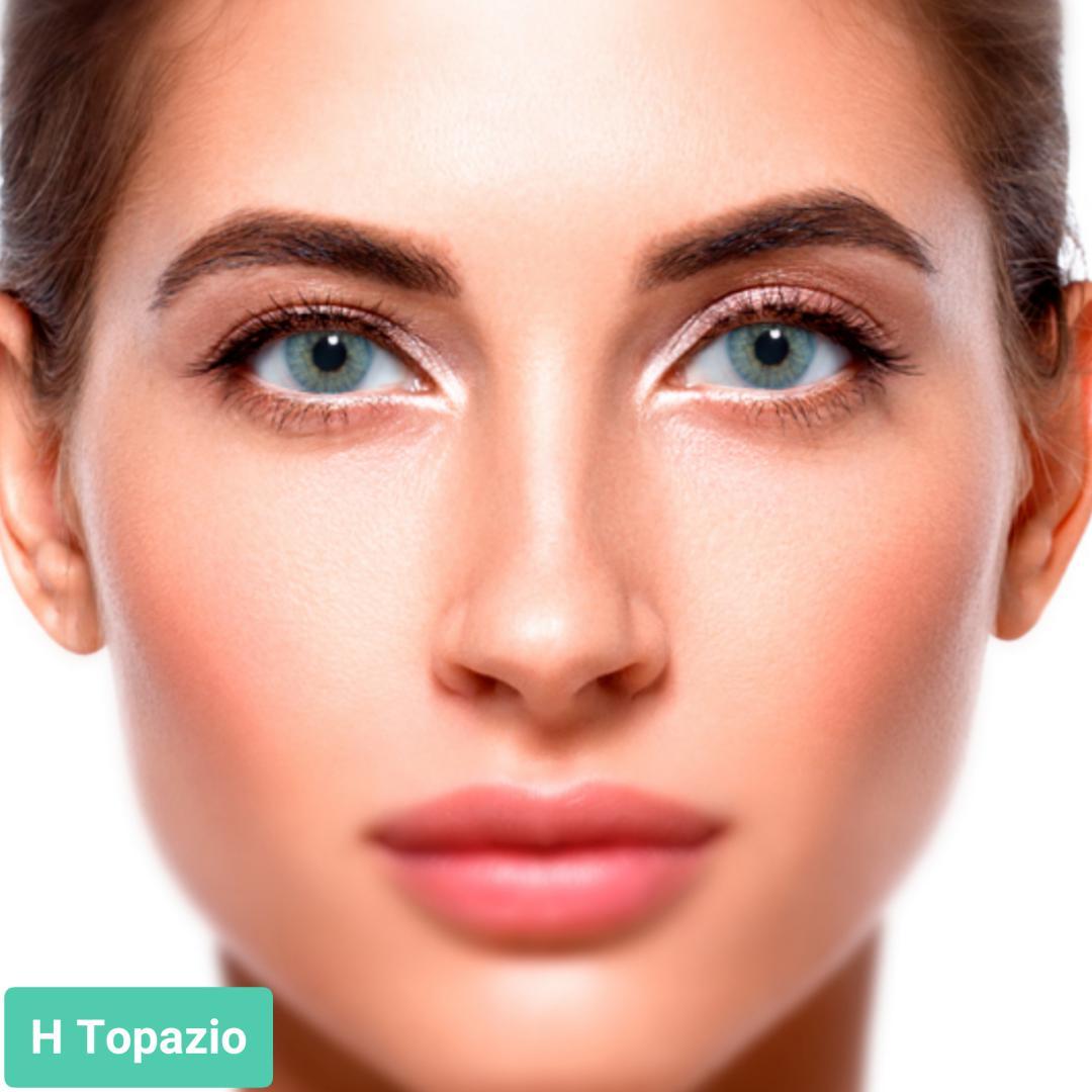 فروش H Topazio (سبز آبی بدون دور)  برند سولوتیکا بهمراه قیمت امروز لنز رنگی و قیمت امروز لنز طبی
