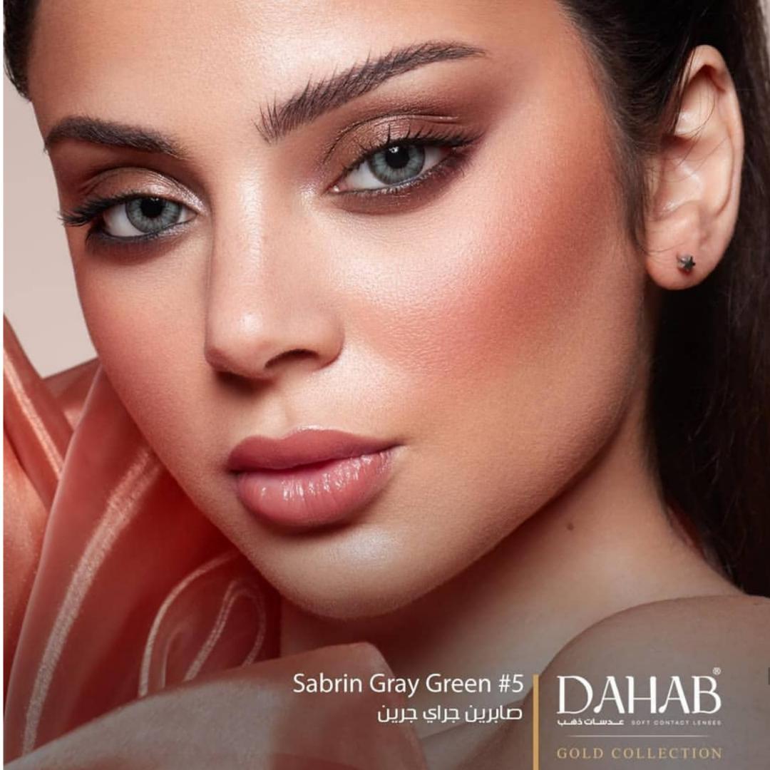 فروش لنز Sabrin Gray Green (سبز زیتونی با طوسی)  برند دهب بهمراه قیمت امروز لنز رنگی  و قیمت امروز لنز طبی