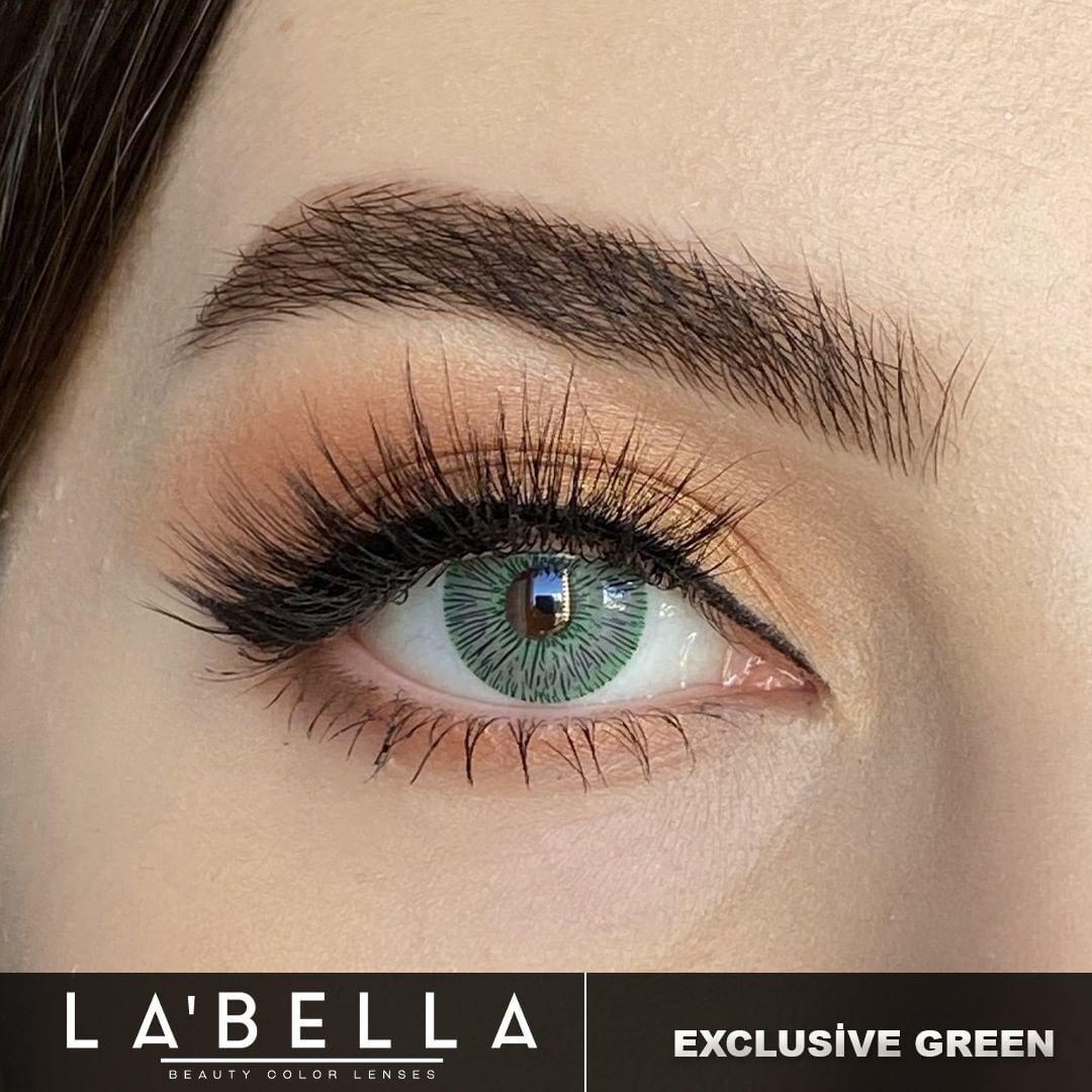 فروش لنزChannel Green (سبز خاص بدون دور)   برند لابلا  بهمراه قیمت امروز لنز رنگی  و قیمت امروز لنز طبی