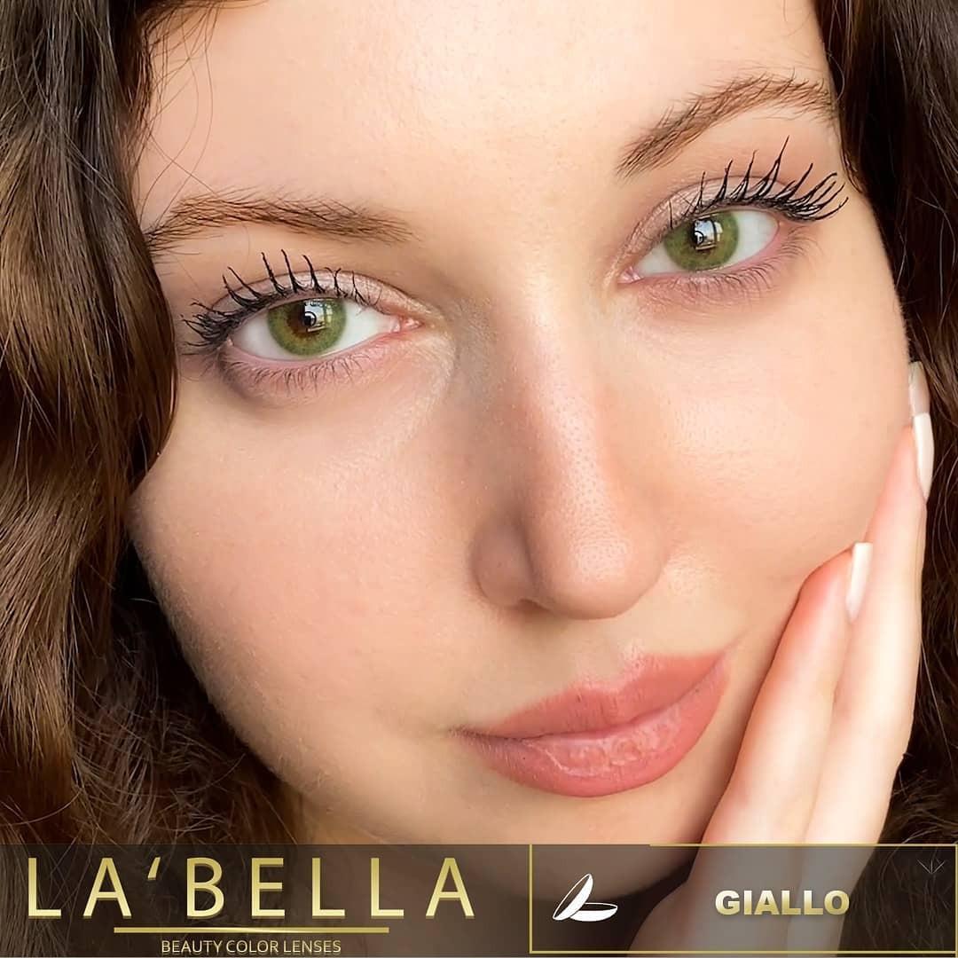 فروش لنزGialo (سبز جنگلی دوردار)  برند لابلا  بهمراه قیمت امروز لنز رنگی  و قیمت امروز لنز طبی
