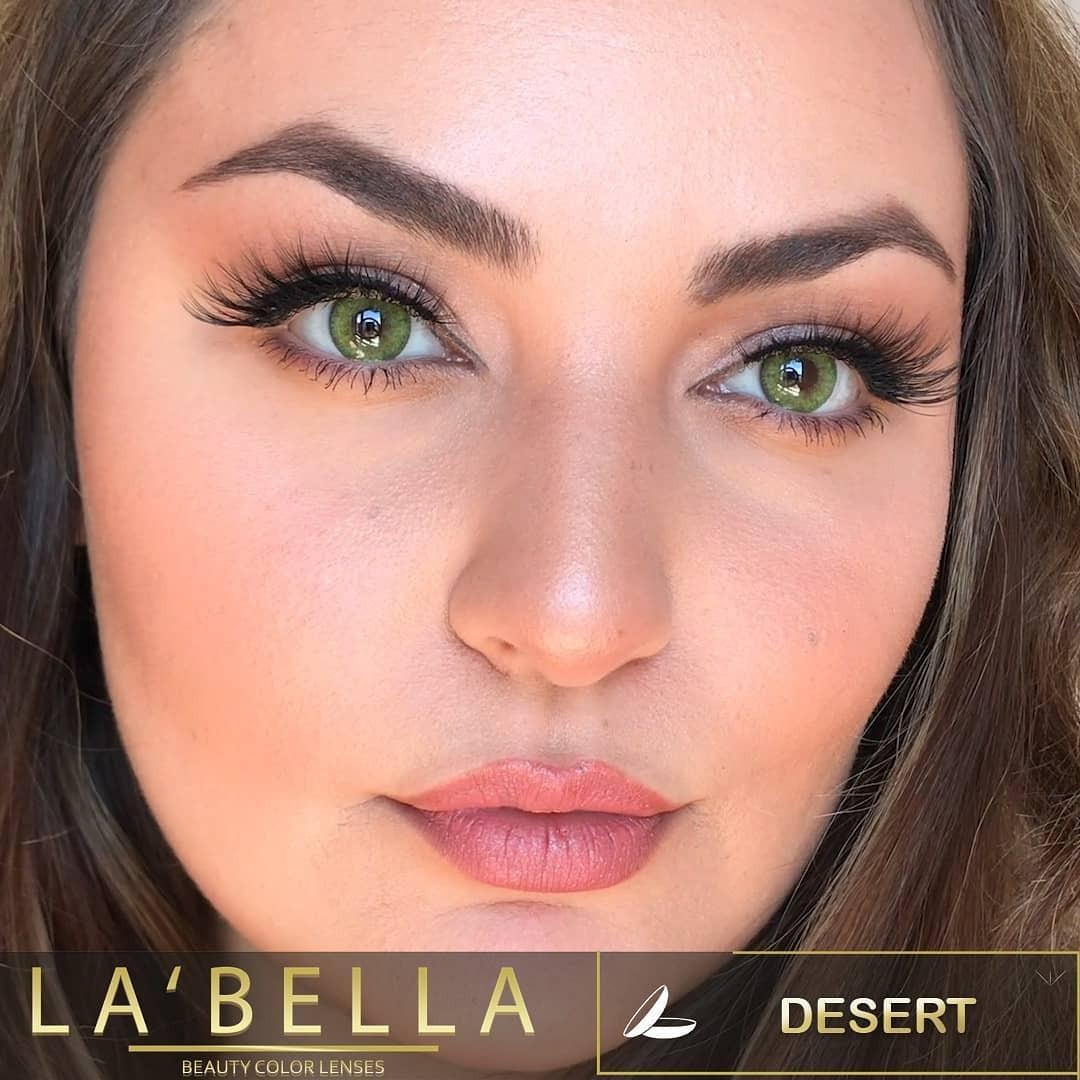 فروش لنز Desert (سبز دوردار)  برند لابلا  بهمراه قیمت امروز لنز رنگی  و قیمت امروز لنز طبی
