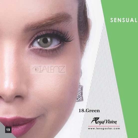 فروش لنز Green (سبز بدون دور)  برند رویال ویژن بهمراه قیمت امروز لنز رنگی و قیمت امروز لنز طبی