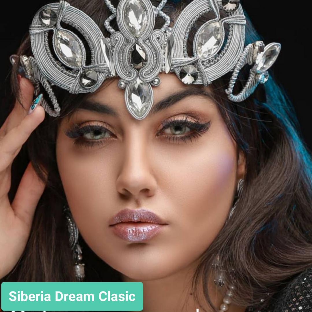 فروش لنز Siberia Dream Classic (سبز عسلی دوردار)  برند جمستون لاکچری  بهمراه قیمت امروز لنز رنگی و قیمت امروز لنز طبی