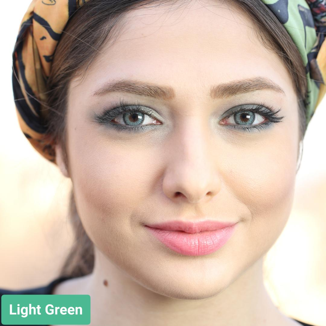 فروش لنز Light Green (سبز دوردار)  برند سولکو رنگی  بهمراه قیمت امروز لنز رنگی و قیمت امروز لنز طبی