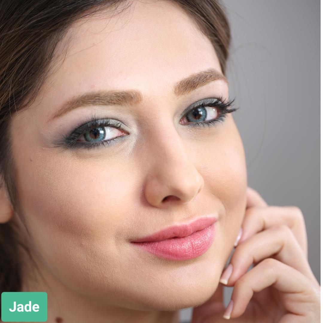 فروش لنز Jade (سبز دوردار)  برند سولکو رنگی  بهمراه قیمت امروز لنز رنگی و قیمت امروز لنز طبی