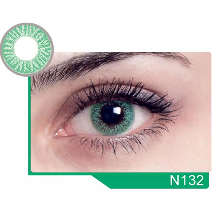 فروش لنز N 132 (سبز بدون دور)  بهمراه قیمت امروز لنز رنگی  و قیمت امروز لنز طبی