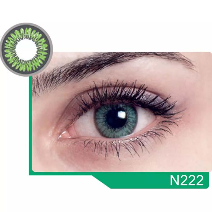 فروش لنز N 222 (سبز دورمشکی)  بهمراه قیمت امروز لنز رنگی  و قیمت امروز لنز طبی