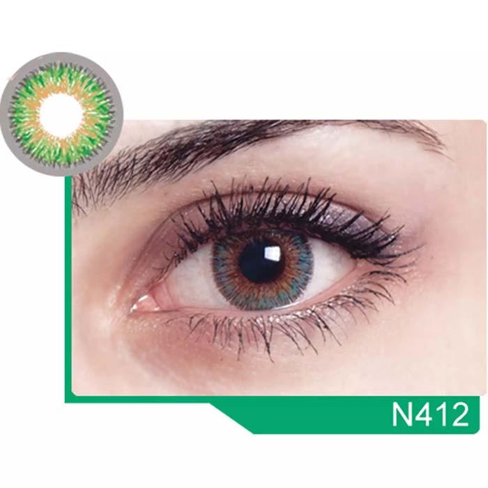 فروش لنز N 412 (سبز عسلی)  بهمراه قیمت امروز لنز رنگی  و قیمت امروز لنز طبی