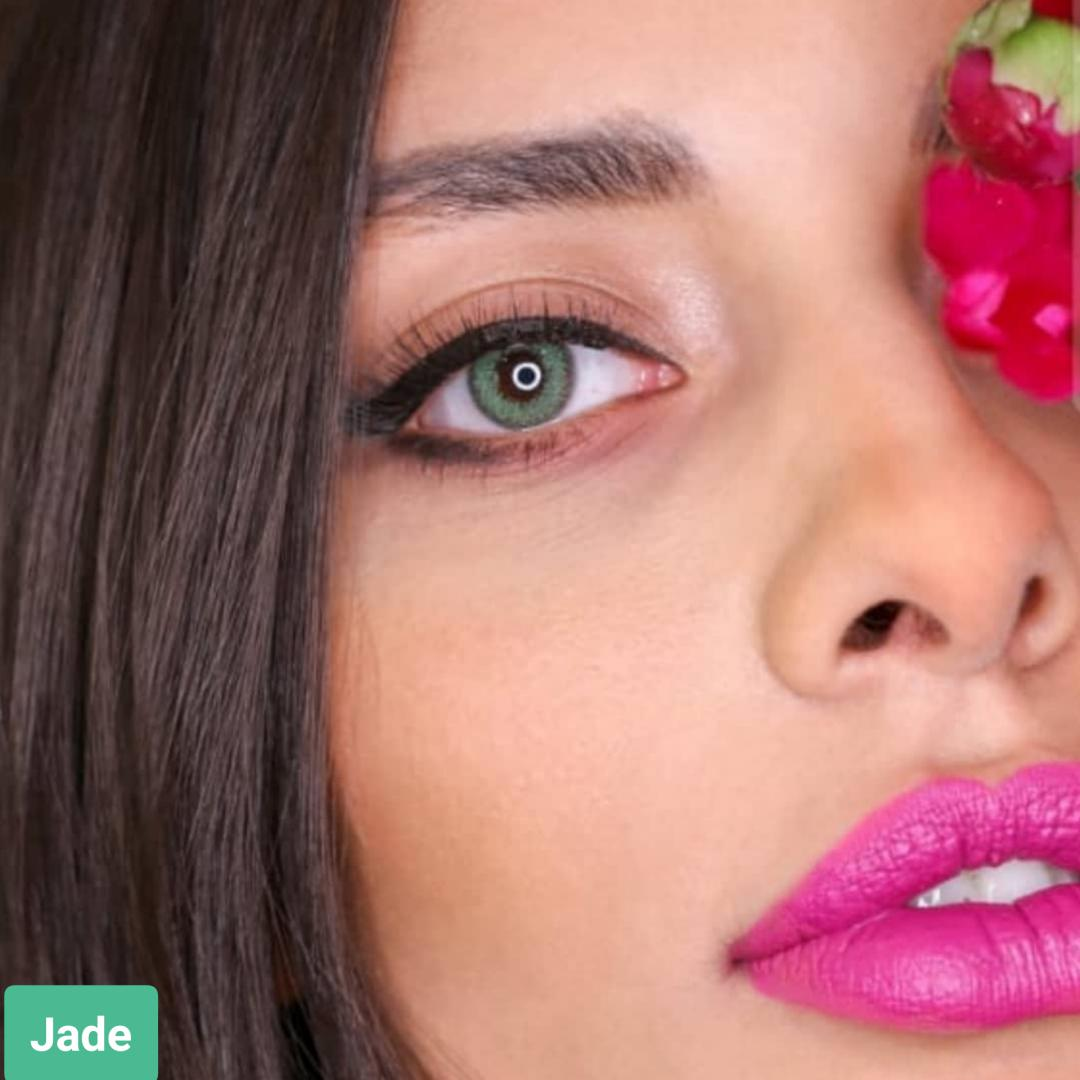 فروش لنز Jade (سبز)  برند سولکو رنگی بهمراه قیمت امروز لنز رنگی و قیمت امروز لنز طبی