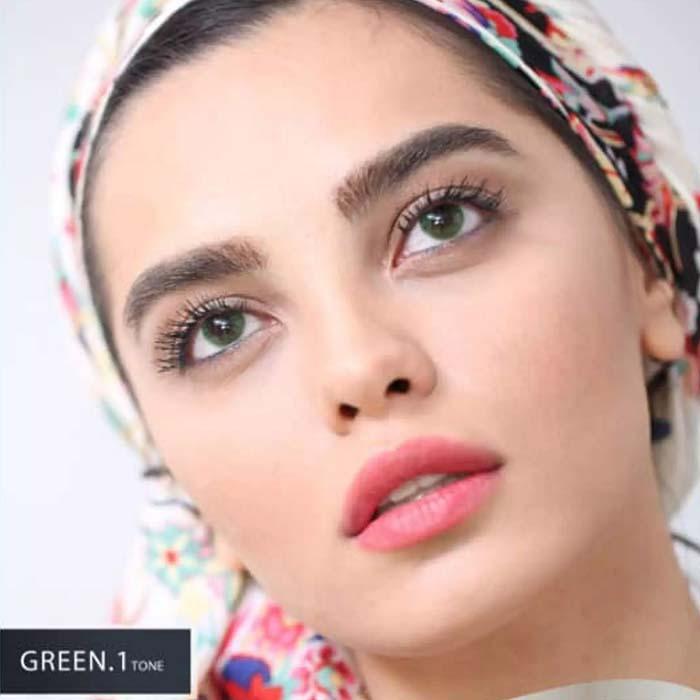 فروش Green T1 (سبز بدون دور)  بهمراه قیمت امروز لنز طبی و قیمت امروز لنز رنگی