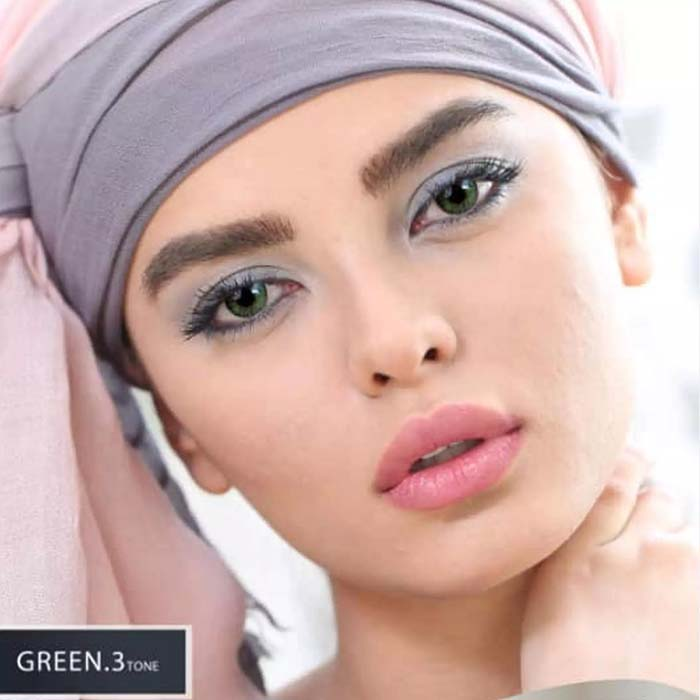 فروش Green T3 (سبز عسلی)  بهمراه قیمت امروز لنز طبی و قیمت امروز لنز رنگی