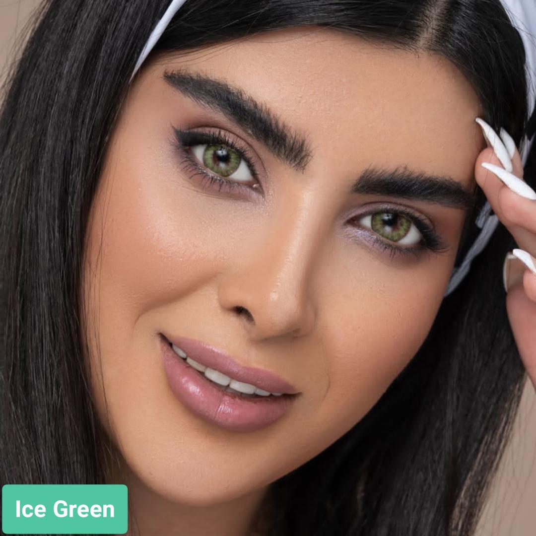 فروش لنز Green Ice (سبز یخی)   بهمراه قیمت امروز لنز طبی و قیمت امروز لنز رنگی