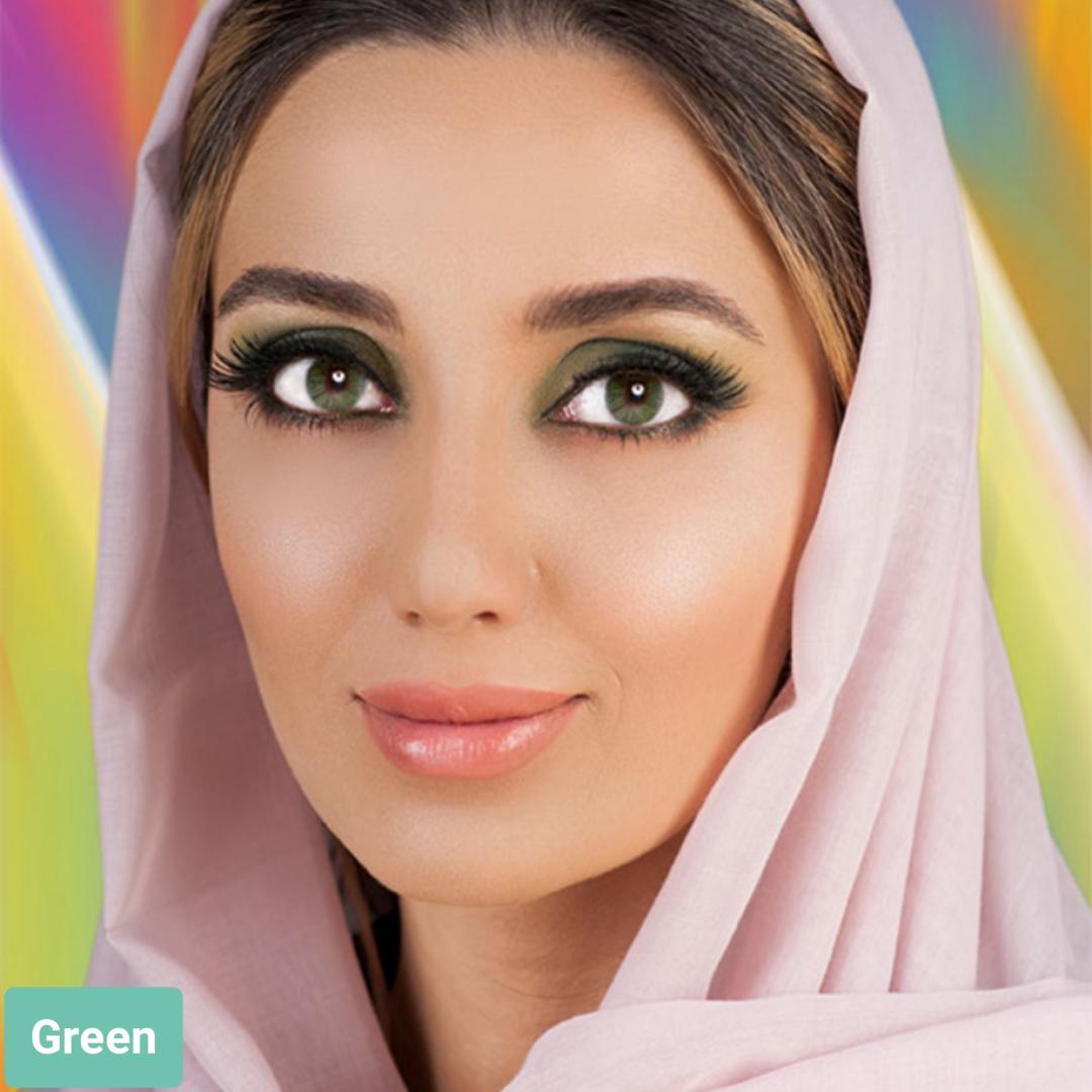 فروش لنز Green (سبز)  برند فرشلوک بهمراه قیمت امروز لنز رنگی و قیمت امروز لنز طبی
