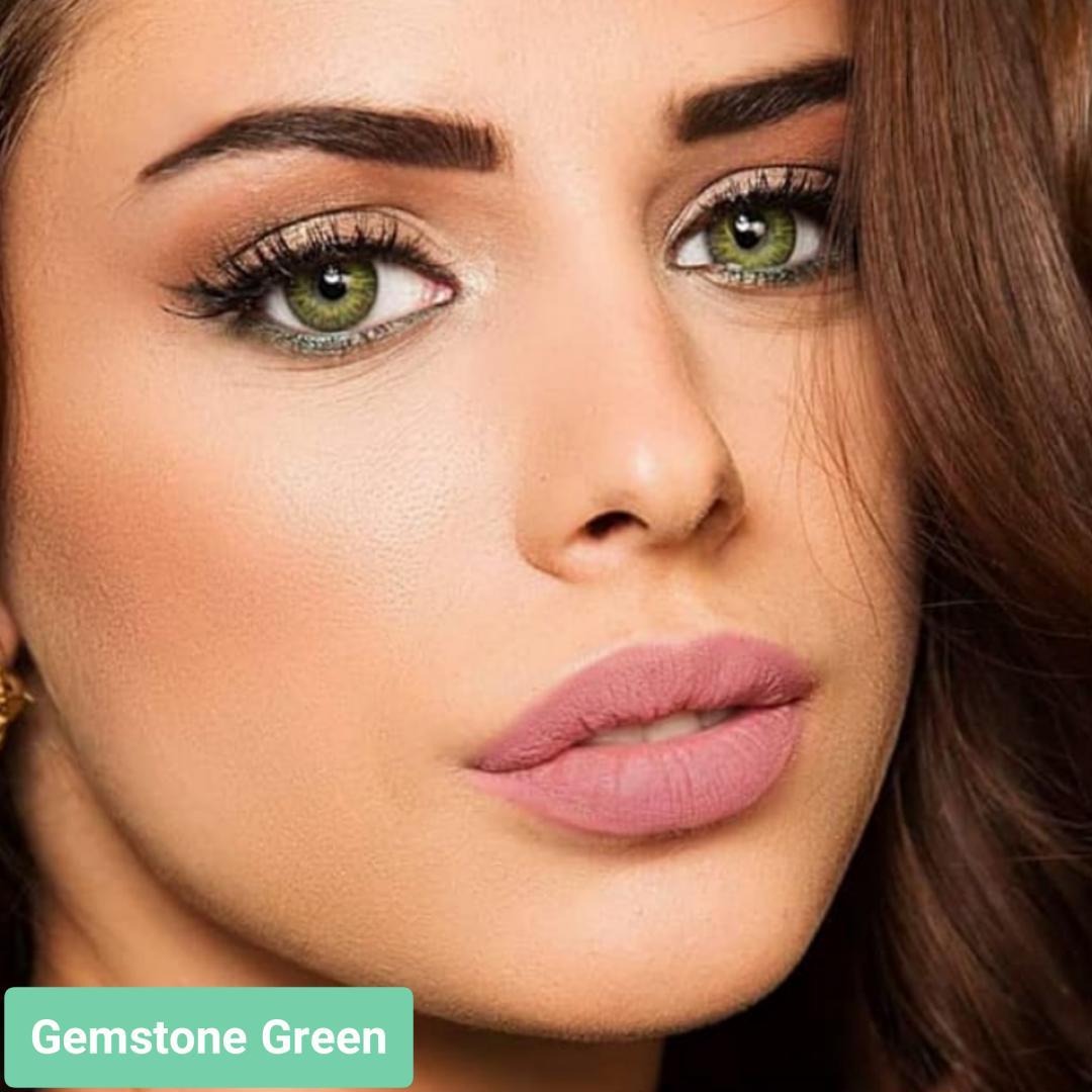 فروش لنز Gemstone Green (سبز جمستون)  برند فرشلوک بهمراه قیمت امروز لنز رنگی و قیمت امروز لنز طبی