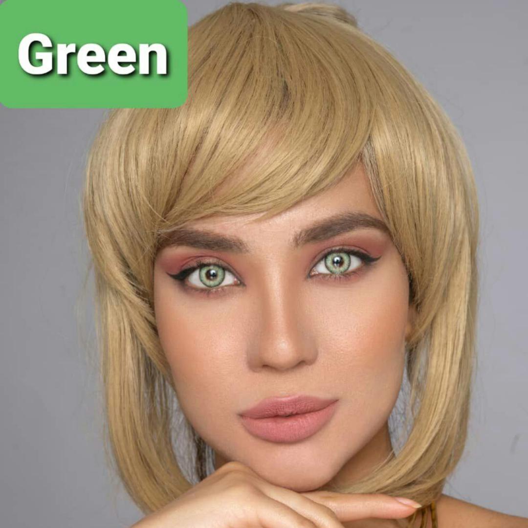 فروش لنز Green (سبز)  برند پلی ویو بهمراه قیمت امروز لنز رنگی و قیمت امروز لنز طبی