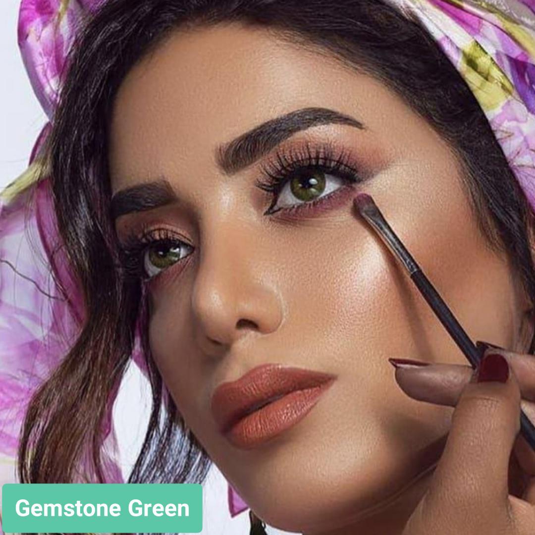 فروش لنز Gemstone Green (سبز جمستون)  برند ایراپتیکس رنگی  بهمراه قیمت امروز لنز رنگی و قیمت امروز لنز طبی