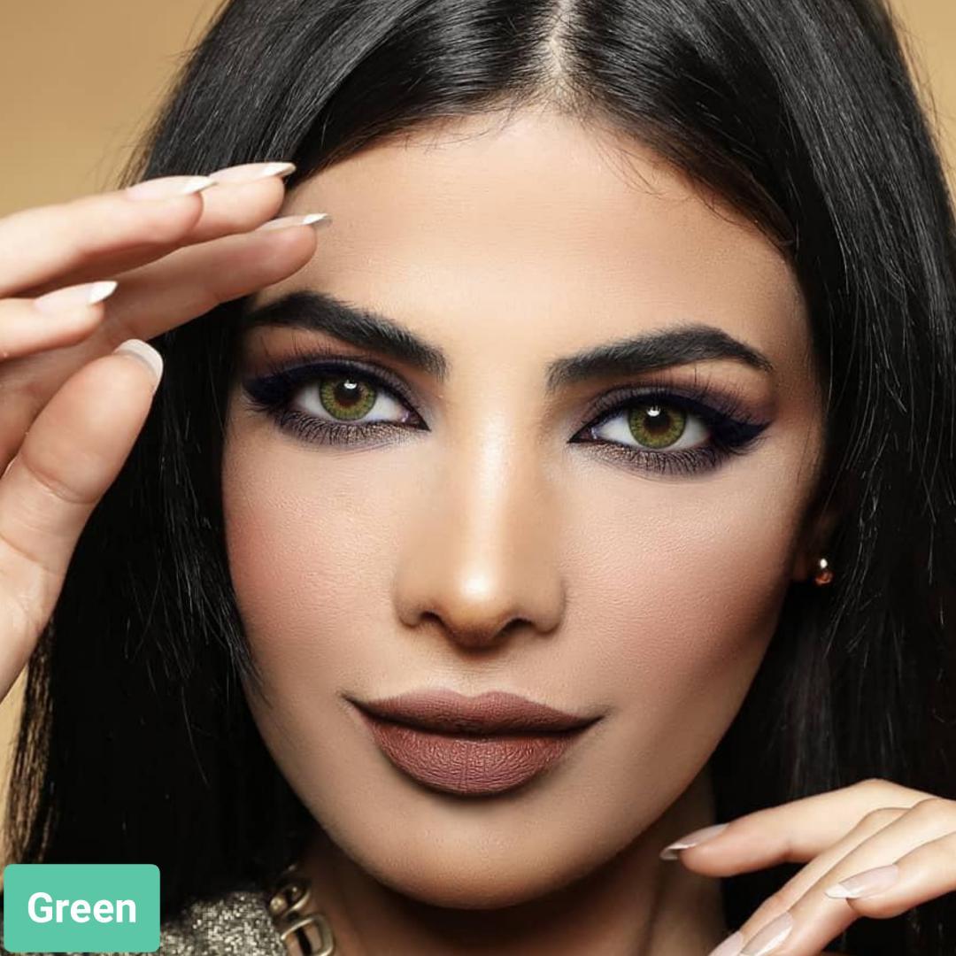 فروش لنز Green (سبز عسلی)  برند ایراپتیکس رنگی  بهمراه قیمت امروز لنز رنگی و قیمت امروز لنز طبی