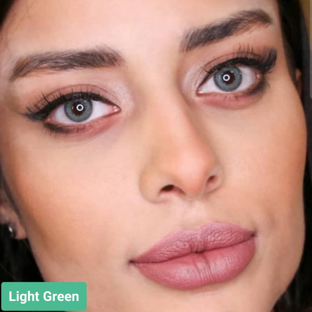 فروش لنز Light Green (سبز بدون دور) برند سولکو رنگی  بهمراه قیمت امروز لنز رنگی و قیمت امروز لنز طبی