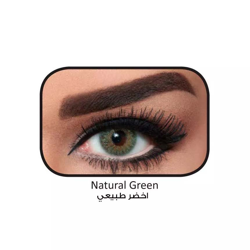 فروش لنزNatural Green (سبز عسلی) برند دسیو بهمراه قیمت امروز لنز رنگی  و قیمت امروز لنز طبی