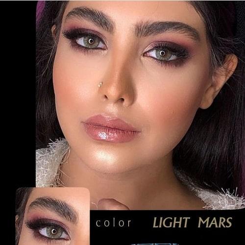 Light Mars(سبز جنگلی دوردار) برند آیسکالر به همراه قیمت امروز لنز طبی و قیمت امروز لنز رنگی