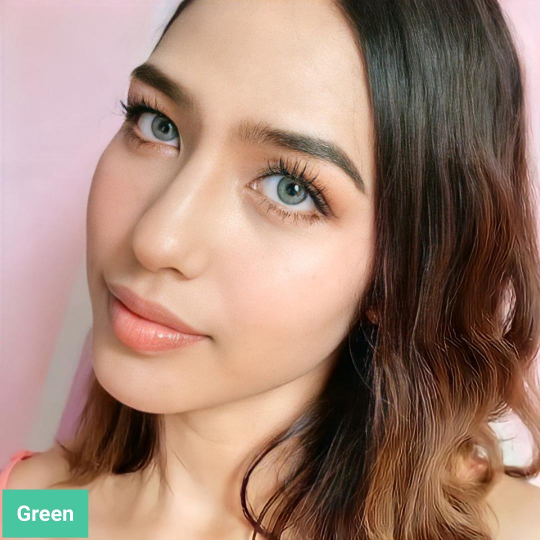 فروش لنزGreen (سبز دوردار)  برند مینی آوا بهمراه قیمت امروز لنز رنگی  و قیمت امروز لنز طبی