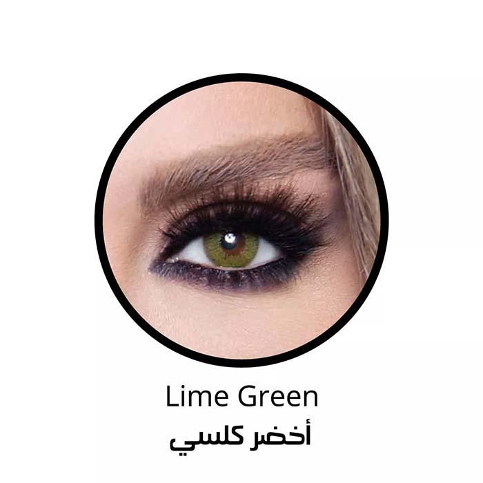 فروش لنزLime Green (سبز عسلی دوردار) برند بلا  بهمراه قیمت امروز لنز رنگی  و قیمت امروز لنز طبی