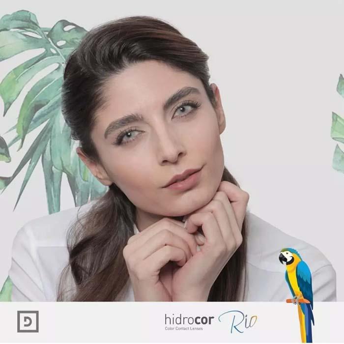 فروش لنزParati (طوسی روشن ته مایه آبی)  برند شیخ بهمراه قیمت امروز لنز رنگی  و قیمت امروز لنز طبی