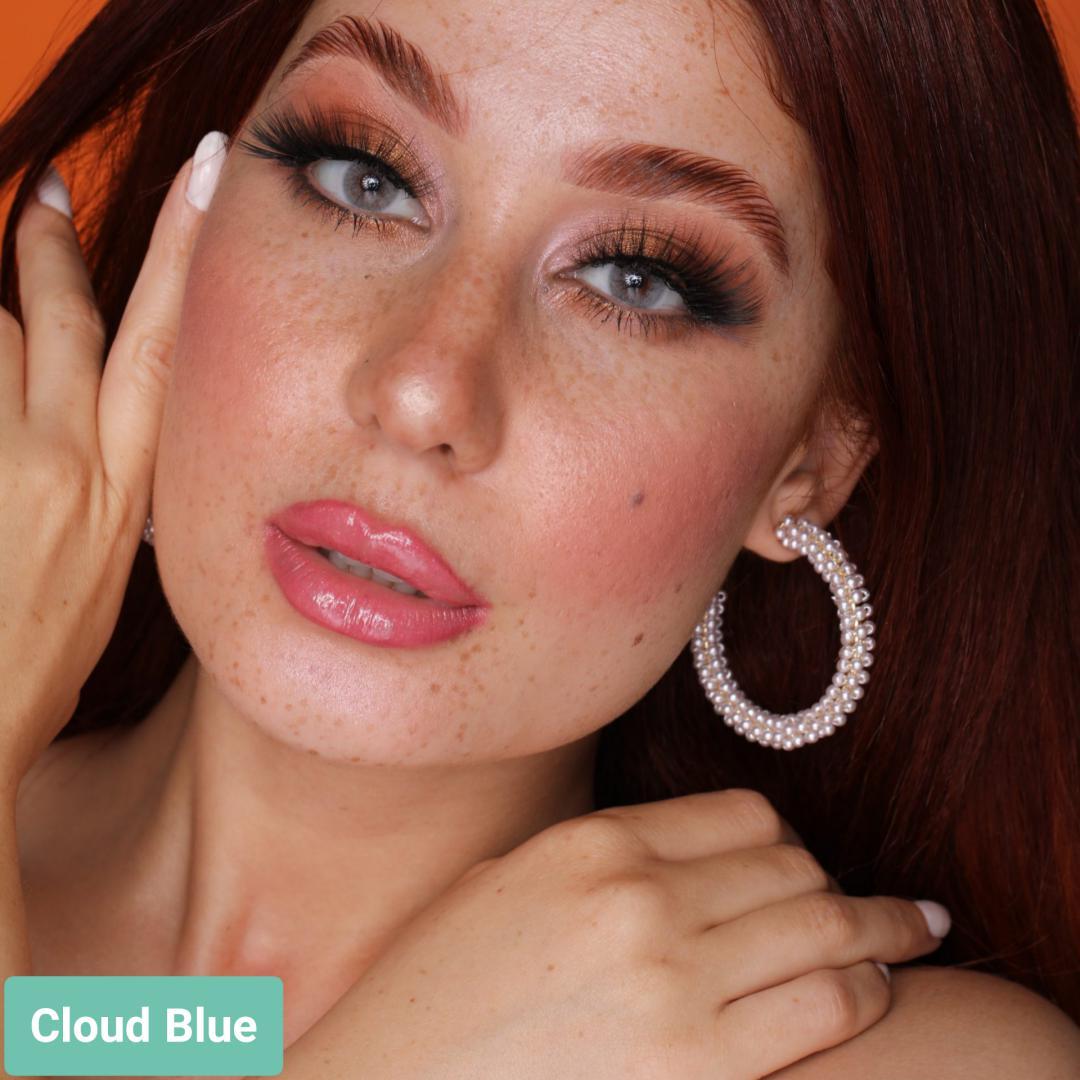 فروش لنز Cloud Blue (طوسی آبی بدون دور)  برند هیپنوس بهمراه قیمت امروز لنز رنگی  و قیمت امروز لنز طبی