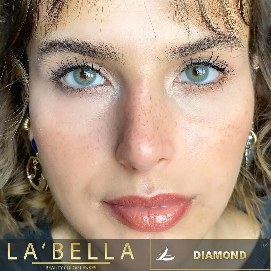 فروش لنزDiamond (آبی سبز طوسی بدون دور)  برند لابلا  بهمراه قیمت امروز لنز رنگی  و قیمت امروز لنز طبی