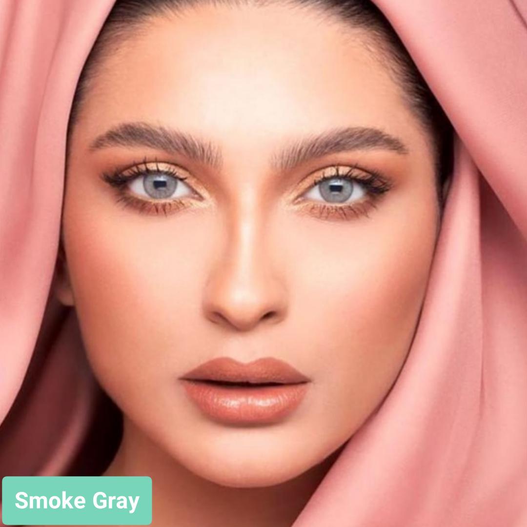 فروش لنزSmoke Gray (طوسی ته مایه آبی دوردار)  برند لازرد بهمراه قیمت امروز لنز رنگی  و قیمت امروز لنز طبی
