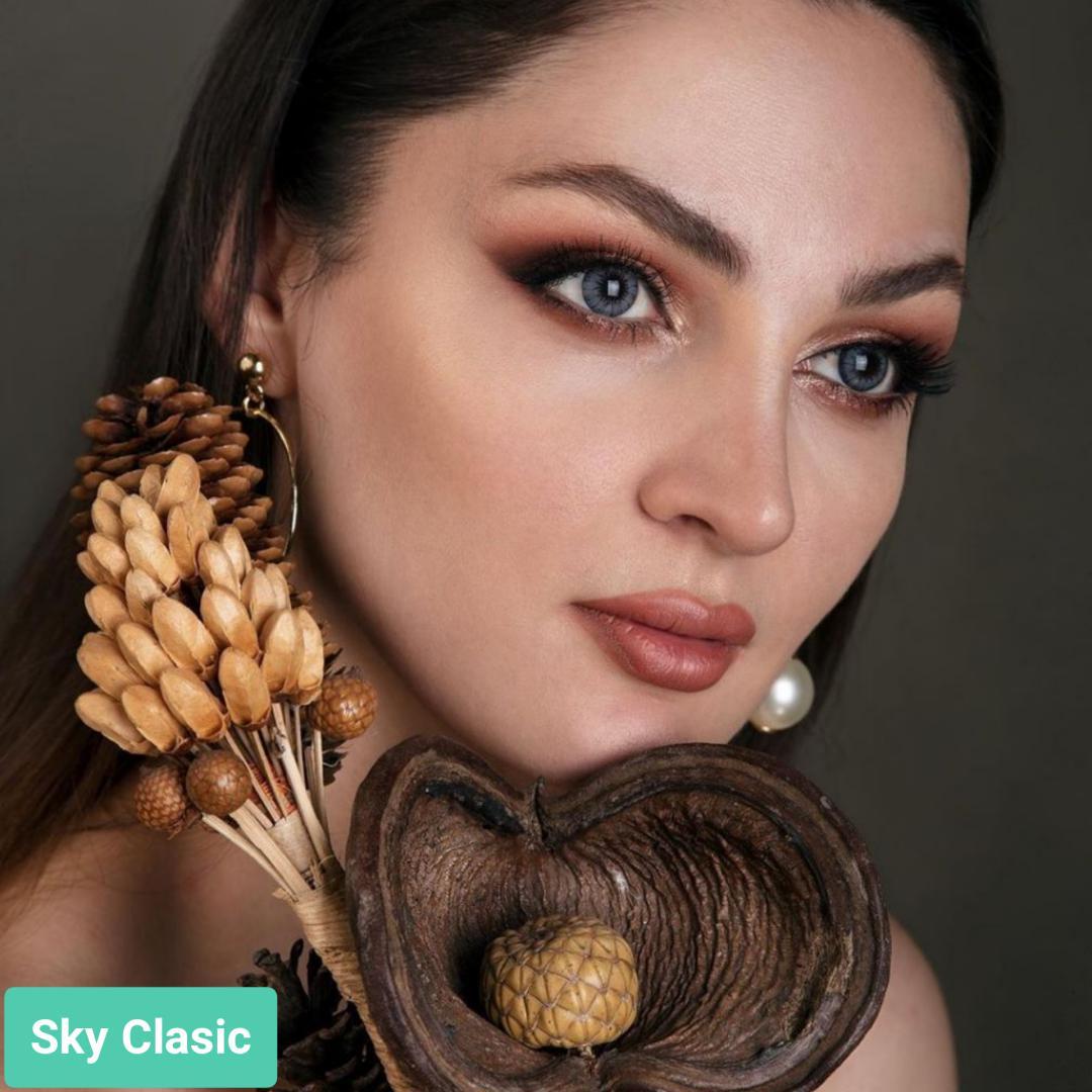 فروش لنز Sky Classic (آبی دوردار)  برند جمستون لاکچری  بهمراه قیمت امروز لنز رنگی و قیمت امروز لنز طبی