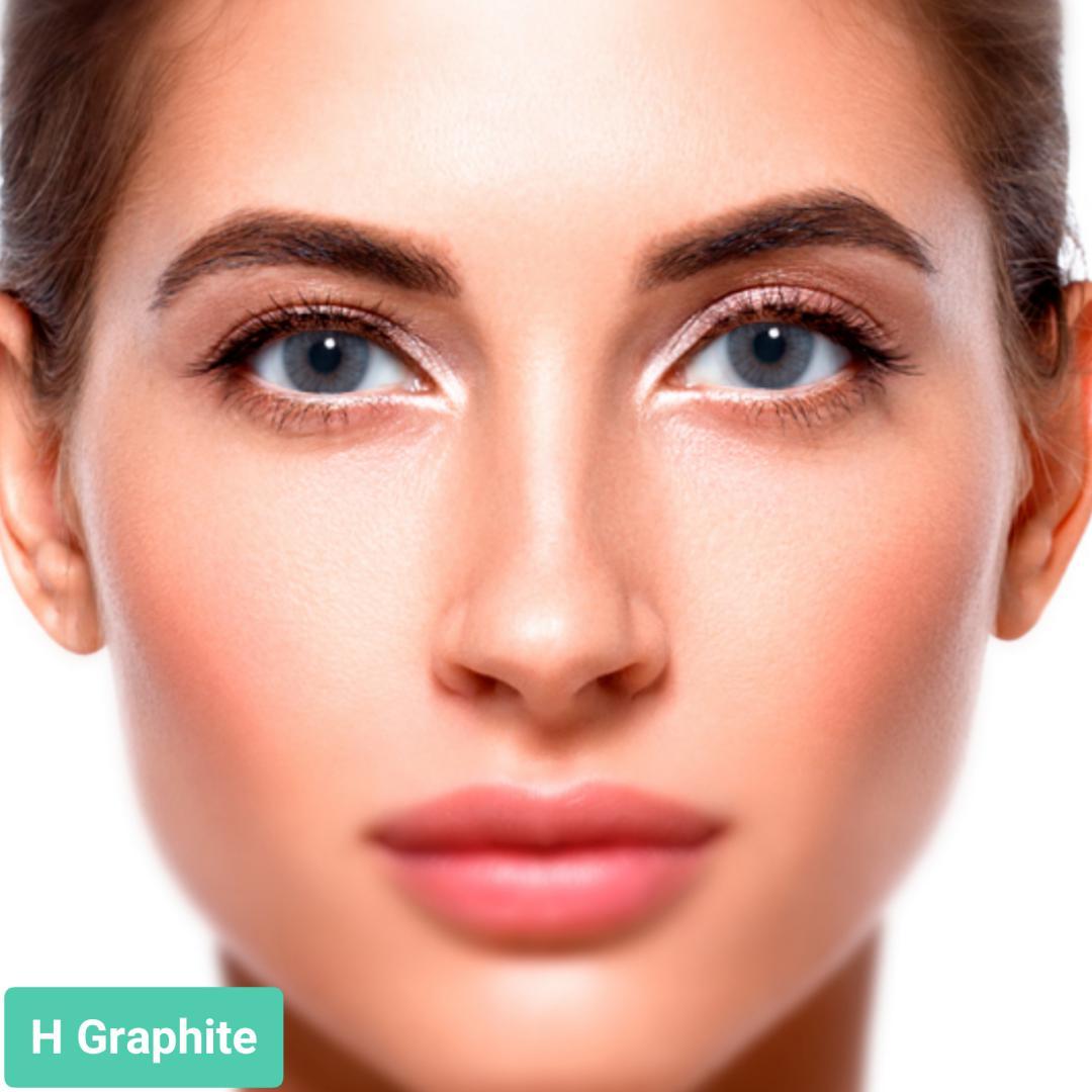فروش H Graphite (طوسی سورمه ای بدون دور) برند سولوتیکا بهمراه قیمت امروز لنز رنگی و قیمت امروز لنز طبی