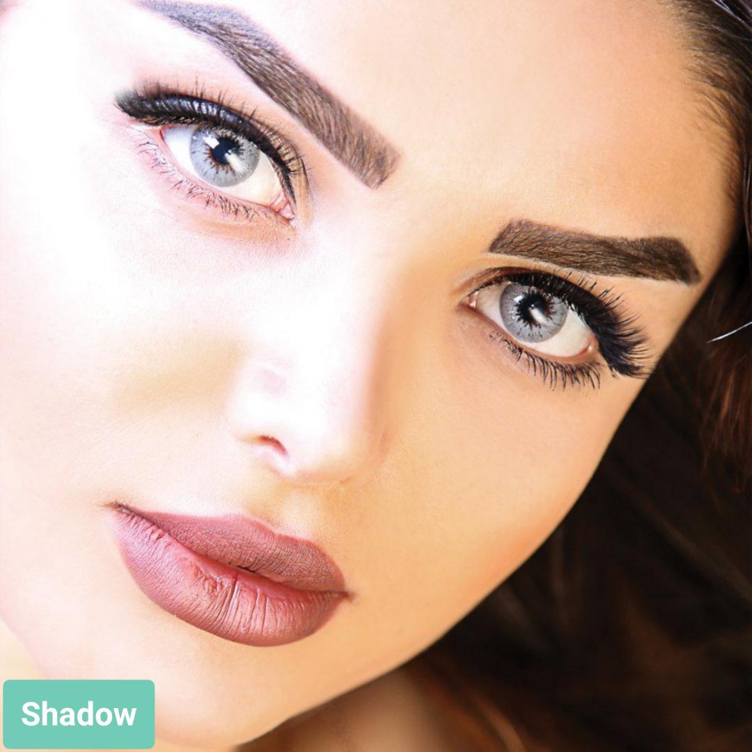 فروش لنز Shadow (طوسی آبی)  برند آیسکالر بهمراه قیمت امروز لنز رنگی و قیمت امروز لنز طبی