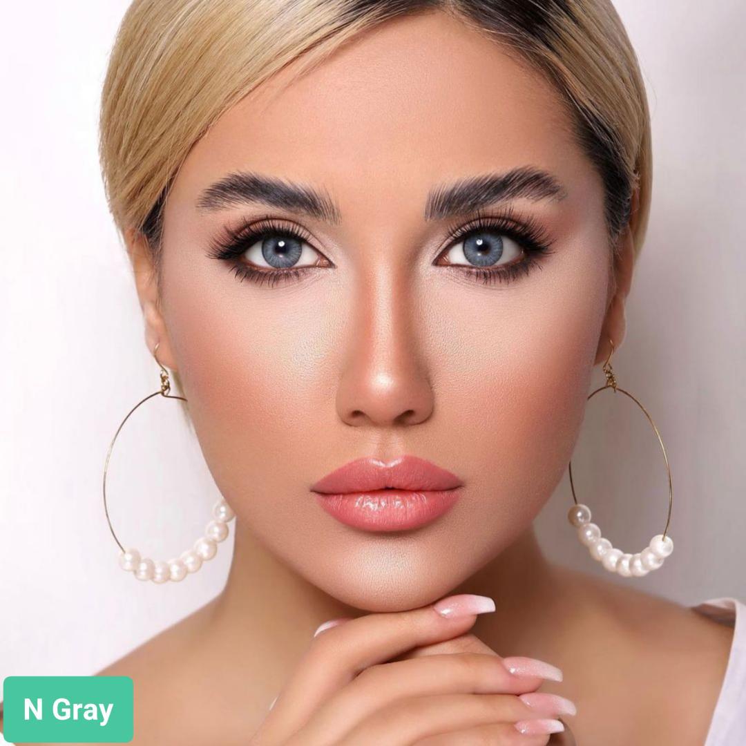 فروش لنزN Gray (طوسی آبی دورمحو) برند اوربان لایر بهمراه قیمت امروز لنز رنگی و قیمت امروز لنز طبی