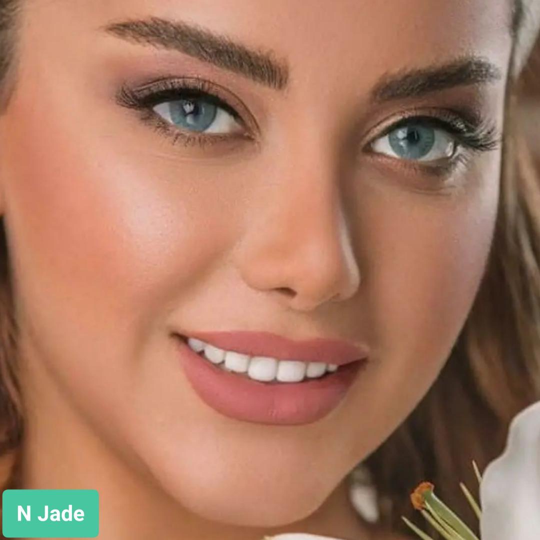 فروش لنزN Jade(آبی طوسی بدون دور) برند اوربان لایر بهمراه قیمت امروز لنز رنگی و قیمت امروز لنز طبی