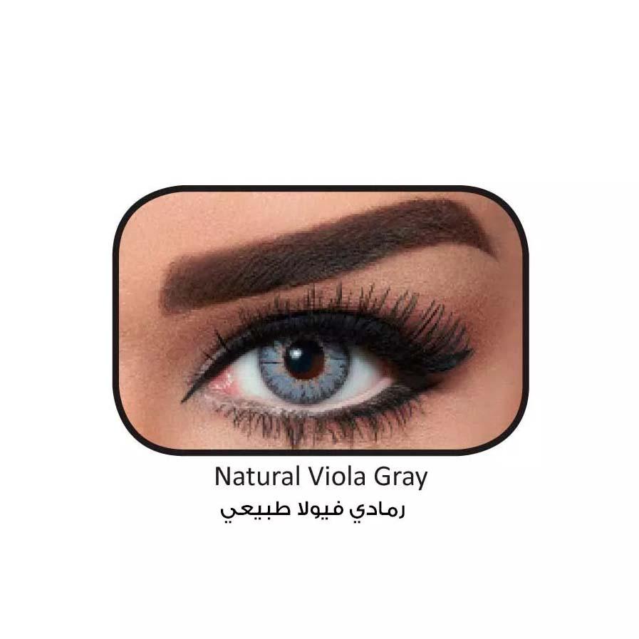 فروش لنزViola Gray (طوسی آبی وسط عسلی) برند بلا  بهمراه قیمت امروز لنز رنگی  و قیمت امروز لنز طبی