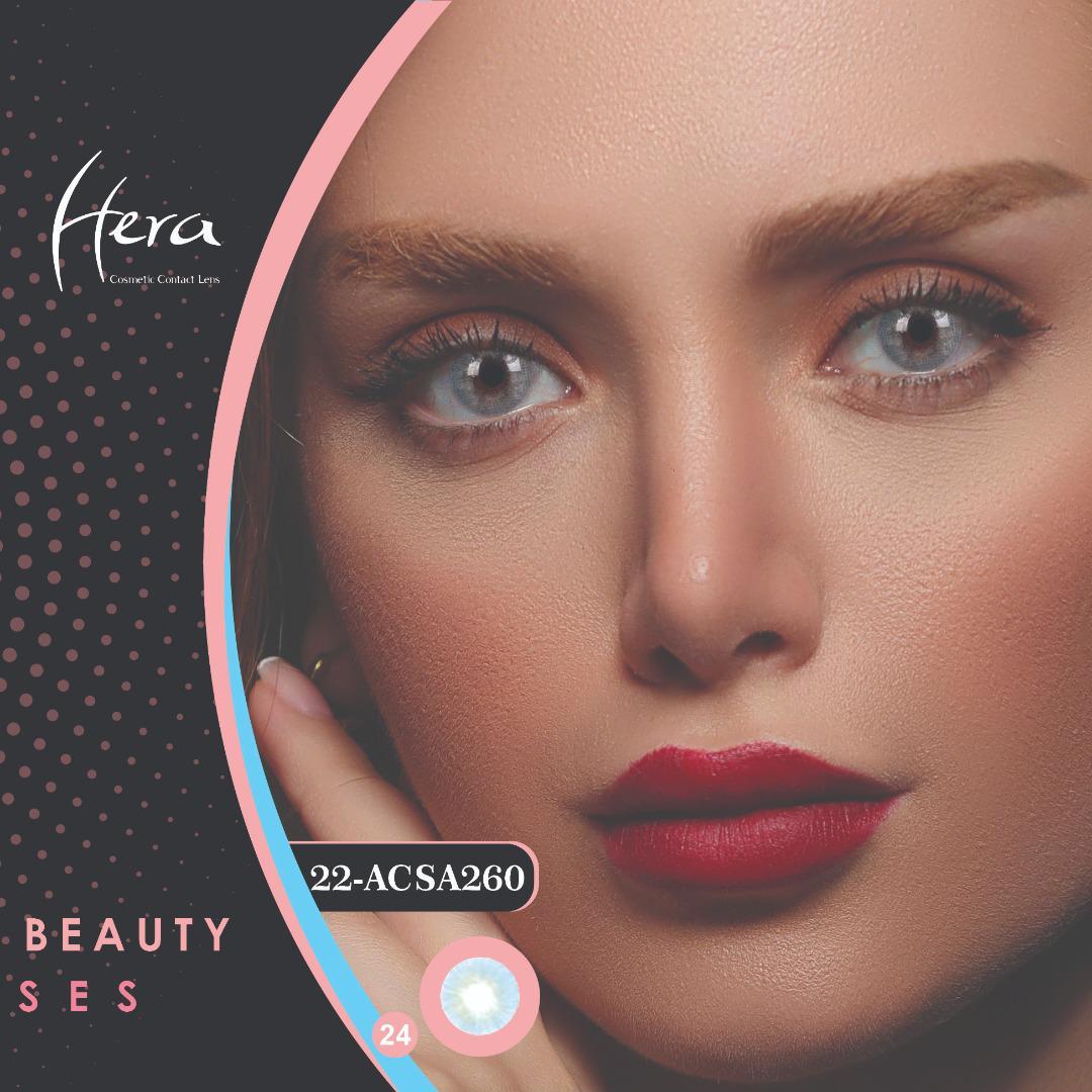فروشACSA260(طوسی آبی بدون دور)برند هرا رنگی بهمراه قیمت امروز لنز رنگی و قیمت امروز لنز طبی