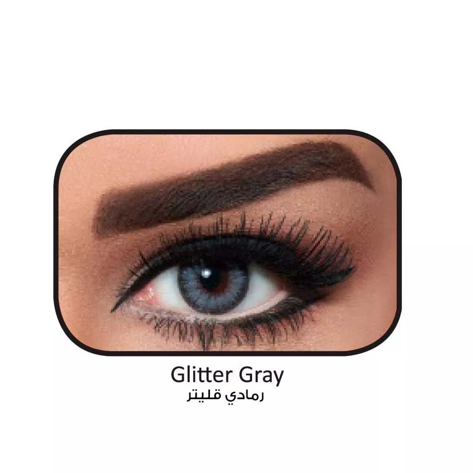 فروش لنزGlitter Gray (طوسی آبی دوردار) برند بلا  بهمراه قیمت امروز لنز رنگی  و قیمت امروز لنز طبی