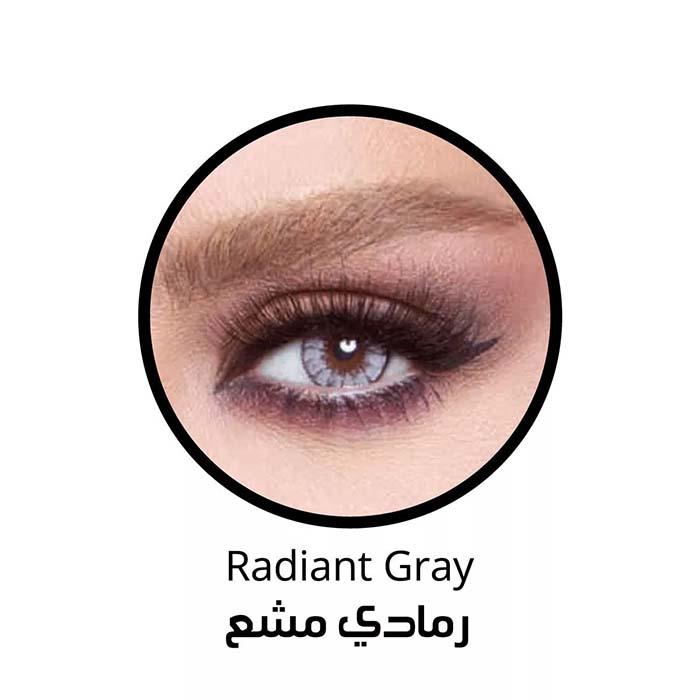 فروش لنزRadiant Gray (طوسی آبی دوردار) برند بلا  بهمراه قیمت امروز لنز رنگی  و قیمت امروز لنز طبی