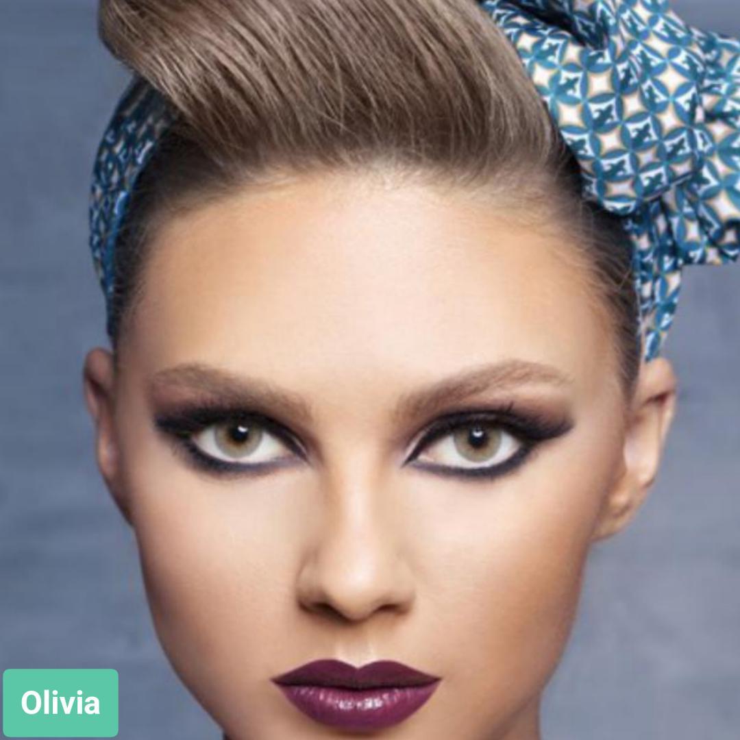 فروش لنزOlivia ( طوسی فیلی بدون دور)  برند آنستازیا بهمراه قیمت امروز لنز رنگی  و قیمت امروز لنز طبی