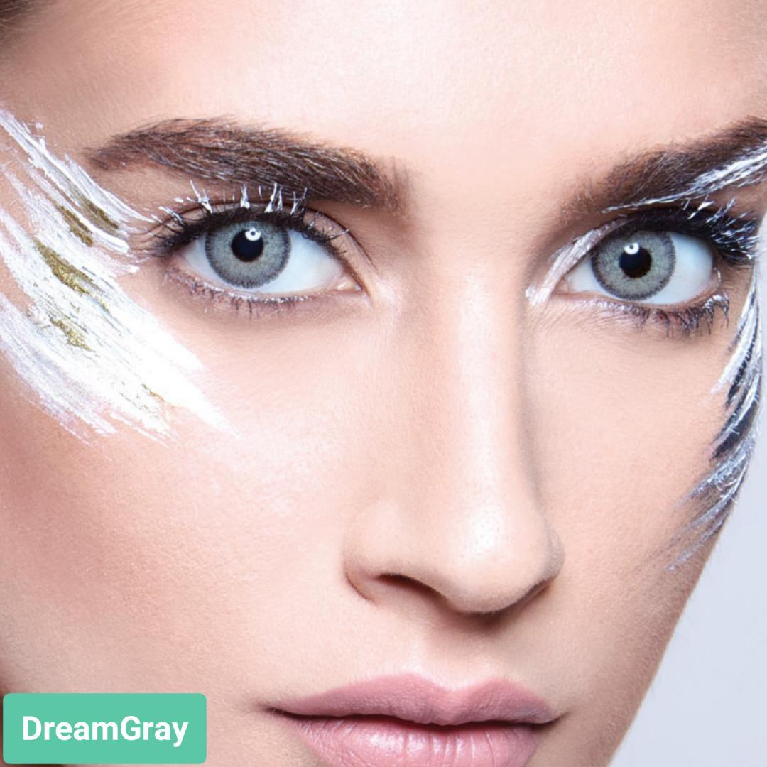 فروش لنز Dream Gray (طوسی سبز دوردار)  برند آنستازیا بهمراه قیمت امروز لنز رنگی  و قیمت امروز لنز طبی