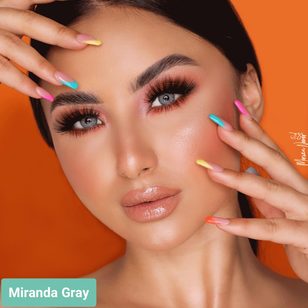 فروش لنز Miranda Gray (طوسی سبز ته مایه آبی دوردار)  برند هیپنوس بهمراه قیمت امروز لنز رنگی  و قیمت امروز لنز طبی