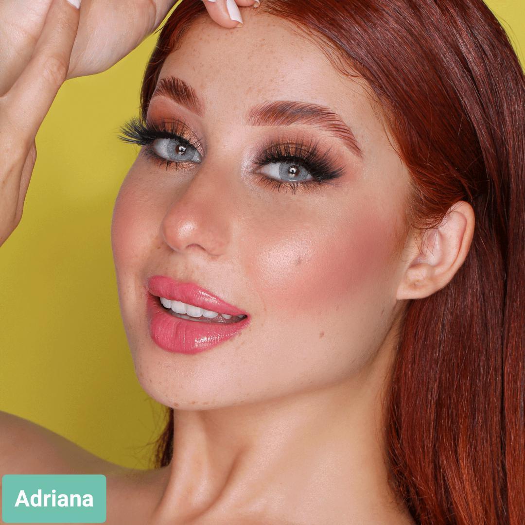 فروش لنز Adriana (طوسی سبز ته مایه آبی دورمحو)  برند هیپنوس بهمراه قیمت امروز لنز رنگی  و قیمت امروز لنز طبی