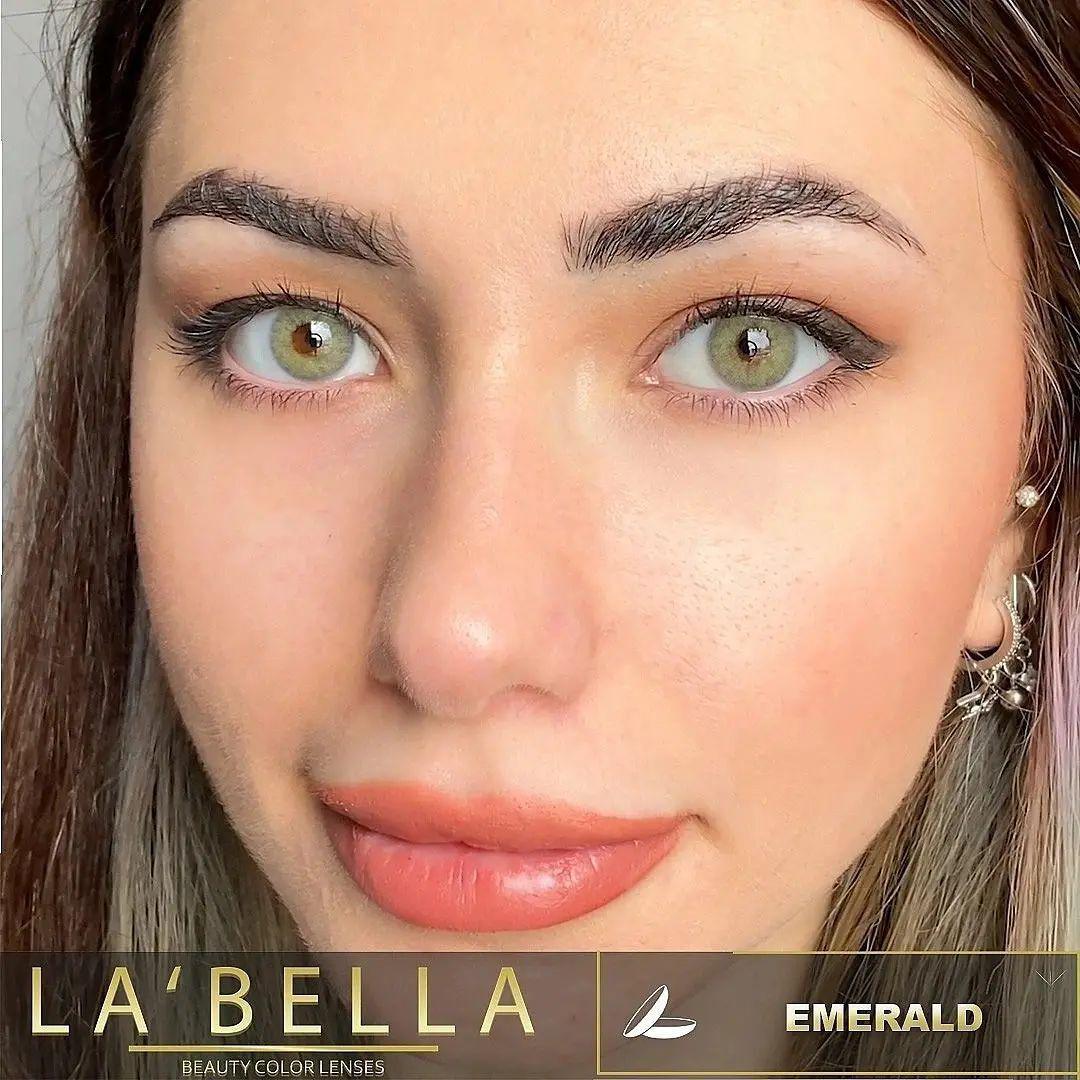 فروش لنز Emerald (طوسی سبز بدون دور)  برند لابلا  بهمراه قیمت امروز لنز رنگی  و قیمت امروز لنز طبی