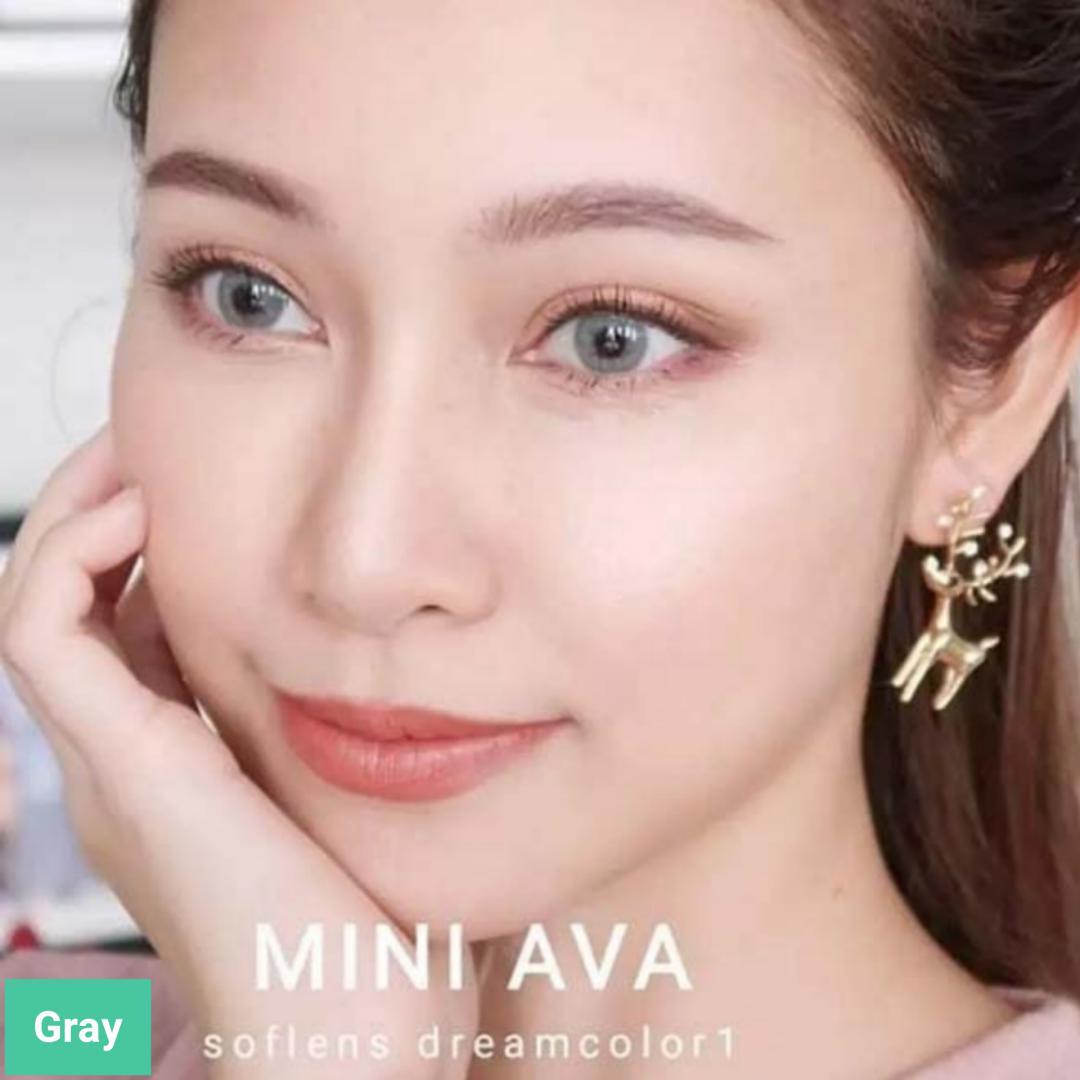 فروش لنز Gray (طوسی ته مایه سبز بدون دور)  برند مینی آوا بهمراه قیمت امروز لنز رنگی  و قیمت امروز لنز طبی