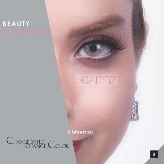فروش لنز Quartzo (طوسی سبز بدون دور)  برند رویال ویژن بهمراه قیمت امروز لنز رنگی و قیمت امروز لنز طبی