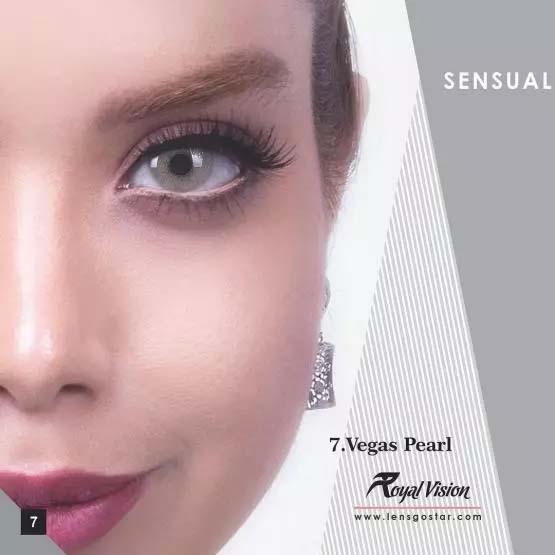 فروش لنز Vegas Pearl (طوسی ته مایه سبز بدون دور)  برند رویال ویژن بهمراه قیمت امروز لنز رنگی و قیمت امروز لنز طبی