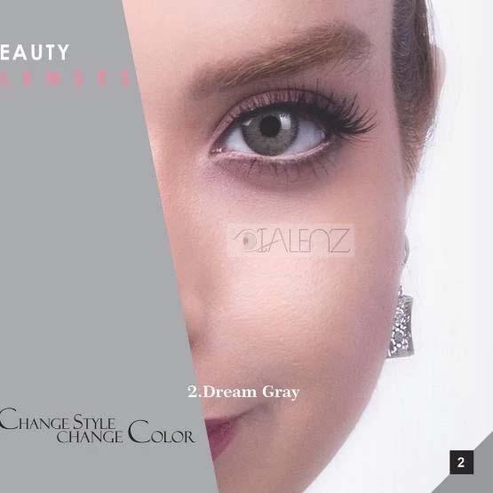 فروش لنز Dream Gray (طوسی ته مایه سبز وسط عسلی)  برند رویال ویژن بهمراه قیمت امروز لنز رنگی و قیمت امروز لنز طبی