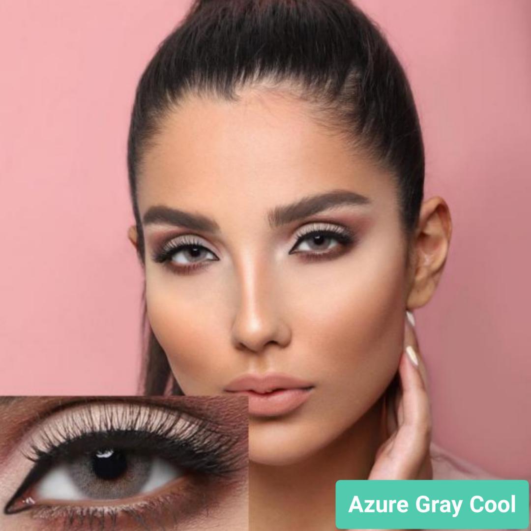 فروش لنز Azure Gray Cool (طوسی ته مایه سبز بدون دور)  برند جمستون لاکچری  بهمراه قیمت امروز لنز رنگی و قیمت امروز لنز طبی